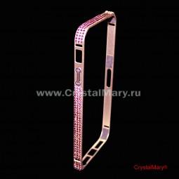 Защитный бампер на iPhone 5/5s с кристаллами Swarovski (Австрия)