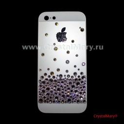 Чехол на айфон усыпанный россыпью бриллиантовых страз Swarovski (Австрия)