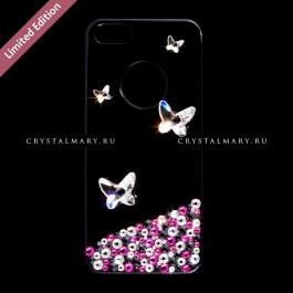 Айфон 5 чехол со стразами  www.crystalmary.ru