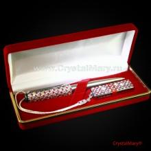 Набор ручка и флешка 16Гб Рубин Кристал www.crystalmary.ru