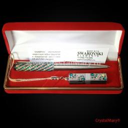 Подарочный набор Сваровски: Ручка Parker+ флеш карта