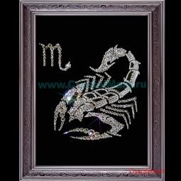 Скорпион, знак зодиака из страз Сваровски