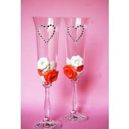 Бокалы для шампанского свадебные