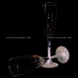 Новогодние бокалы со стразами Swarovski (Австрия)