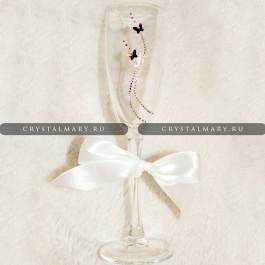 Бокал кристалл: Бабочка Swarovski Аметист www.crystalmary.ru