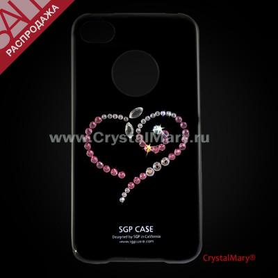"Панель SGP для iPhone 4G/S  ""Сердце"" www.crystalmary.ru"