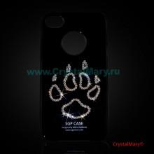Панель iPhone Лапа www.crystalmary.ru
