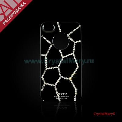 Крышка на iPhone 4G/S Паутинка www.crystalmary.ru
