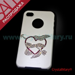 Крышка на iPhone 4G/S: Сердце со стрелой www.crystalmary.ru