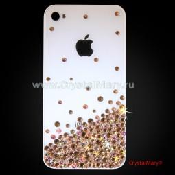 Чехол для айфона усыпанный кристаллами Swarovski (Австрия)