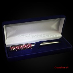 Ручка Parker со стразами Crystal Ruby+Crystal