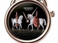 Уникальные карманные часы «Hermes Arceau Pocket Amazones» с миниатюрной живописью