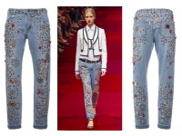 Джинсы Dolce & Gabbana, украшенные Swarovski