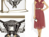 Высокий полёт клатча Lanvin Golden Dream box с орлом из кристаллов Swarovski