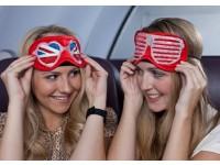 Компания «Virgin Atlantic» создала маски для сна, украшенные кристаллами Swarovski, стоимостью в $4,000