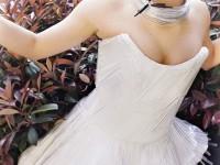 Платье из ручек и страз