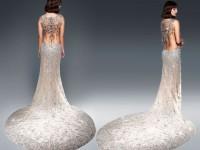 Рождественское платье, украшенное стразами Swarovski