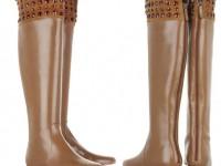 Кожаные сапожки Valentino, украшенные Swarovski