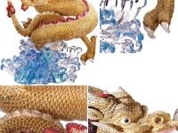 Китайский дракон в кристаллах Swarovski