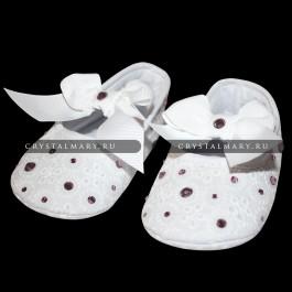 Пинетки для детей со стразами Swarovski www.crystalmary.ru