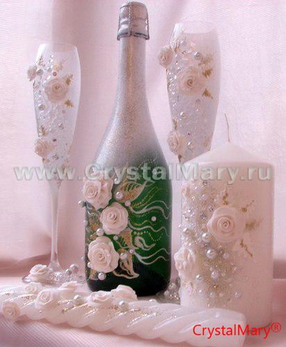 Как сделать бокалы на свадьбу фото 439