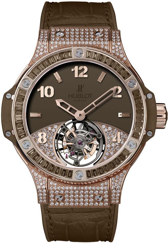 золотые часы с бриллиантами Hublot