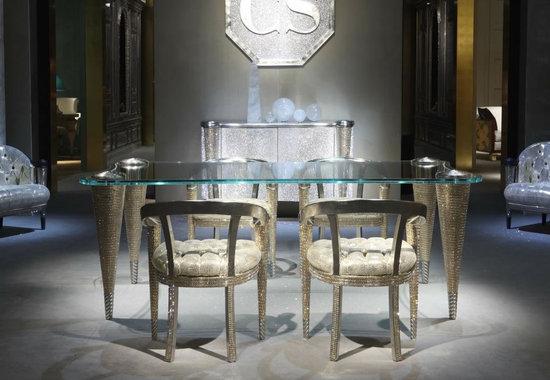Позолоченая обеденная группа: стол и стулья
