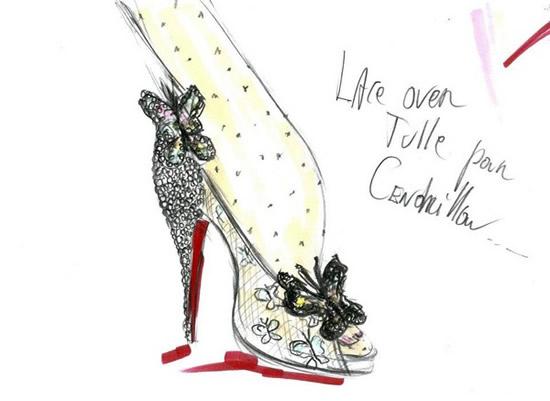туфли от Кристиана Лабутена со стразами