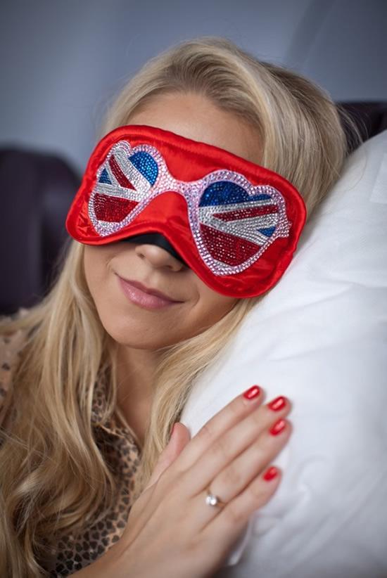 маски для сна, украшенные кристаллами Swarovski