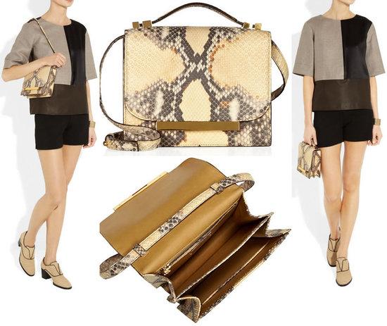 дамская сумочка из кожи питона