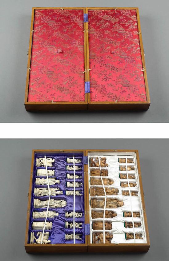 китайские винтажные шахматы из слоновой кости