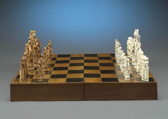 китайские шахматы резные из слоновой кости