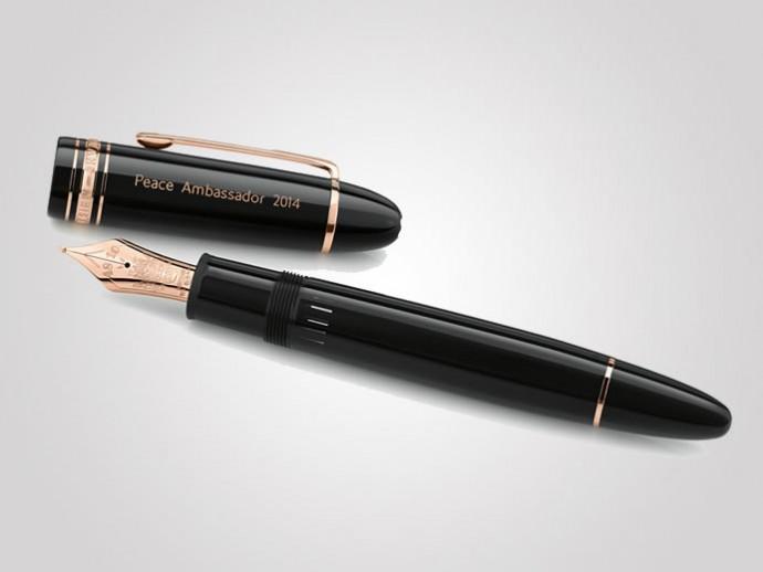 Компания Montblanc  выпустила ручки, изготовленные из красного золота