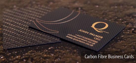 Визитные карточки из углепластика