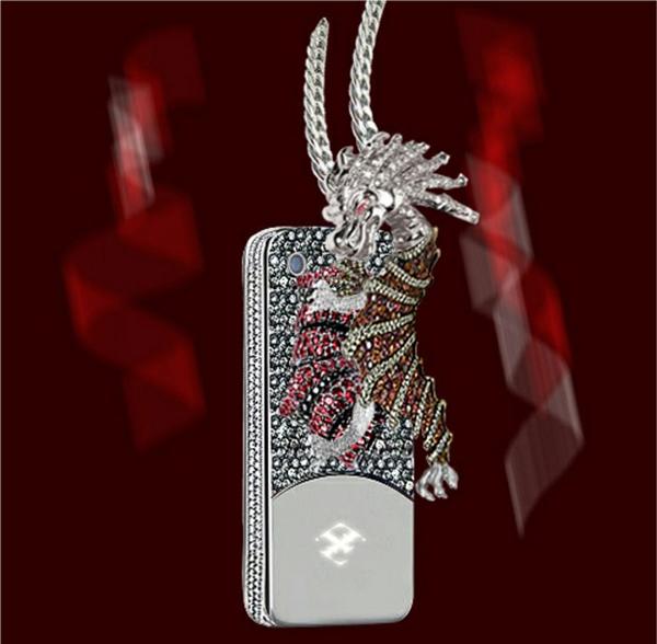 чехол на айфон с драконом и драгоценными камнями