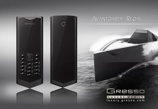 черный телефон Gresso