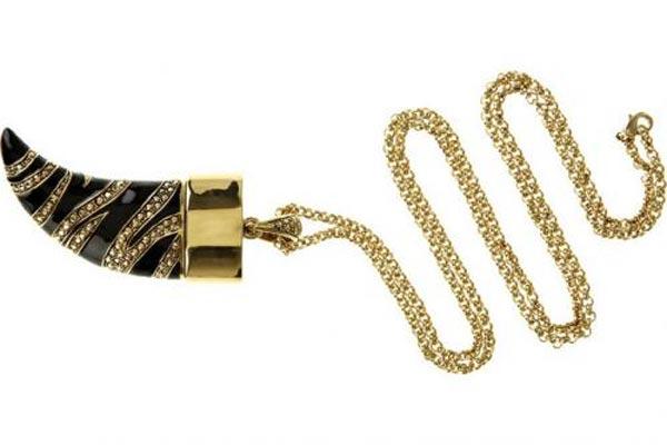 Золотой USB-накопитель в виде подвески