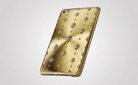 золотой чехол на iPhone5 с бриллиантами