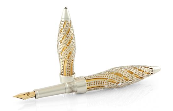 ручка из золота с бриллиантами