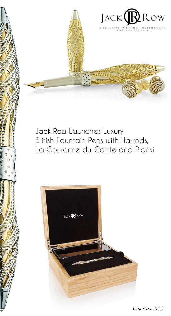 золотые перьевые ручки с бриллиантами и золотые запонки