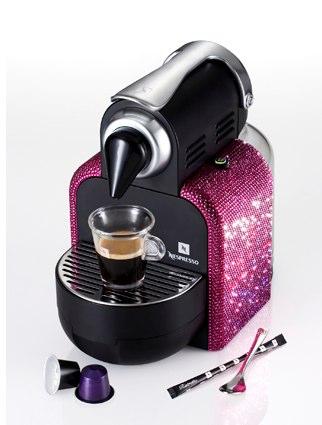 Кофеварка со стразами